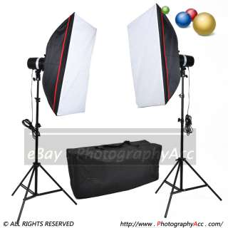 New 400w Photo Studio Mini Flash Kit + Soft Box + Stand