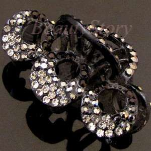 ADDL Item  Austrian rhinestone crystal flower hair claw