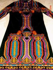 pHeNoMeNaL Vtg Intensely TRIBAL DECO AzTeC Print FRANCIS X Dress*S/M