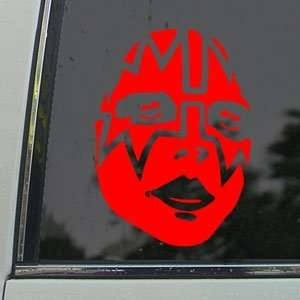 KISS Red Decal Faces Band Car Truck Bumper Window Red