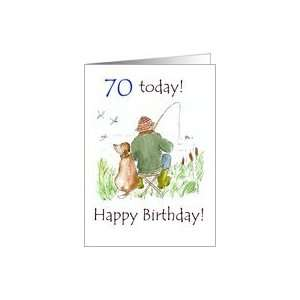 70th Fishing Birthday Card Toys & Games