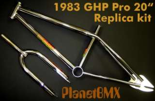 2010 GHP BMX 1983 Pro 20 REPLICA frame & fork KIT NEW