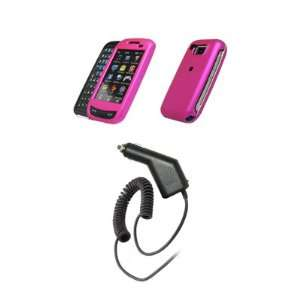 Samsung Impression A877   Hot Pink Rubberized Snap On