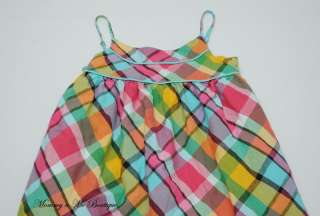 For your consideration is a girls Gap Kids Spring Bloom plaid dress