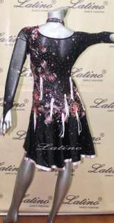 LATIN SALSA(BALLROOM) COMPETITION DRESS SIZE S (VL158)