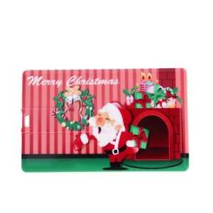 Christmas Wreath Credit Card Style USB Flash Memory Drive Electronics