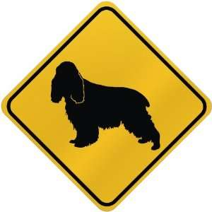 ONLY  ENGLISH COCKER SPANIEL  CROSSING SIGN DOG