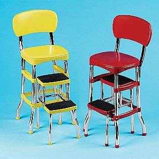 Retro Counter Chair/ Step Stool   Red  Cosco For the Home Kitchen Bar