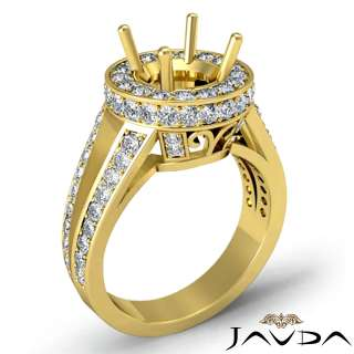 2ct Diamond Ring Round Engagement Setting 14k Gold s5.5