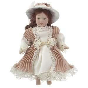 Personalized Victorian Doll   Mauve & White Christmas