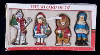 Vintage Kurt Adler Santas World WIZARD OF OZ 4.5 Ornaments Box Set