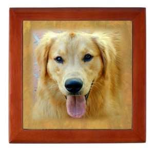 Spike the Golden Retriever Jewelry Box Dog Keepsake Box by