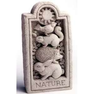 Cast Stone Nature Stone, Rabbit, Hedgehog, Squirrel, Bird