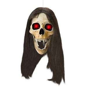 GEMMY ANIMATED DROPPING HEAD SKULL LIGHT HALLOWEEN PROP