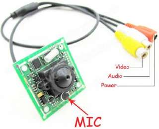 Mini 1/3 Sony CCD 2.8mm Pinhole PCB Board Camera Mic