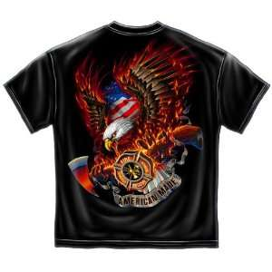 Fire Eagle American Made   Firefighter T Shirt