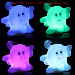 Lovely Cute ANIMAL Shape 7Colors Changing LED Night Light Lamp