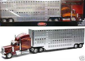 NEW RAY PETERBILT 379 POTBELLY LIVESTOCK 1/32 12073