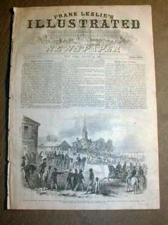 1862 illustr Civil War newspaper PARIS Kentucky raided by Confed GEN