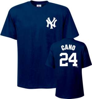 Cano Majestic Name and Number Navy New York Yankees T Shirt