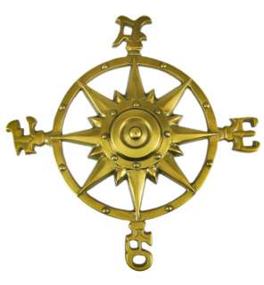 Bronze Finish Compass Rose Wall Hanging Indoor / Outdoor