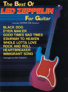 The Best of Led Zeppelin for Guitar Song Book, TAB, NEW