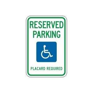 HAWAII) RESERVED PARKING PLACARD REQUIRED (W/GRPAHIC) Sign 18 x 12