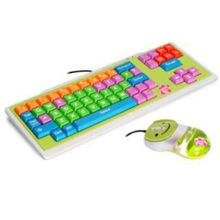 KIDS USB KEYBOARD MOUSE & MAT SET KIDDY CLUB 3PC COMPUTER CHILDRENS