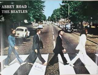 PAUL MCCARTNEY THE BEATLES ABBEY ROAD AUTHENTIC SIGNED 39X53 POSTER
