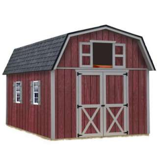 Woodville 10 ft. x 12 ft. Wood Storage Shed Kit includes Floor without