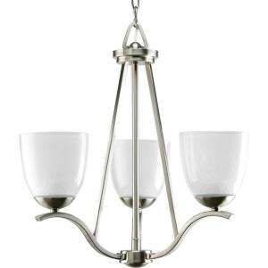 Progress Lighting Lakeshore Collection Brushed Nickel 3 light