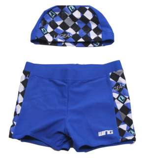 kid, boy swimwear swim suit pants +cap hat + goggles