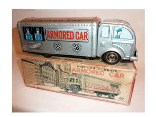 HAYASHI Tin Litho Friction 50s ARMORED CAR TRUCK / Box