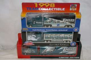 NEW NFL PHILADELPHIA EAGLES Die cast Truck Trailer Collectibles 1998