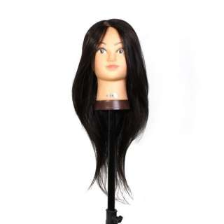 Cosmetology Mannequin Head Synthetic 28 Black Jenny