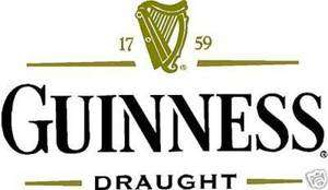 GUINNESS Vinyl Decal Sticker 18 wide FULL COLOR