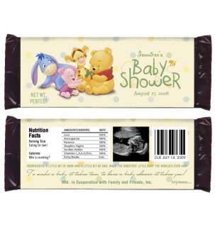 BABY POOH Baby Shower Favor CANDY WRAPPERS