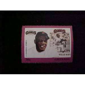Willie Mays San Francisco Giants Major League in Baseball Stamp
