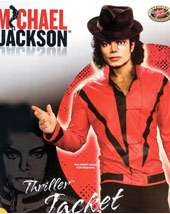 Mens 80s Costumes   Mens Michael Jackson Red Thriller Jacket