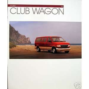 1993 Ford Club Wagon vehicle brochure