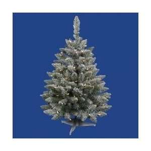 Pre Lit Flocked Sugar Pine Artificial Christmas Tree   Clear Lights