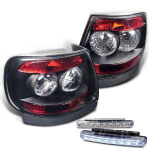 96 01 Audi A4 S4 Tail Lights + LED Bumper Fog Lights Set Automotive