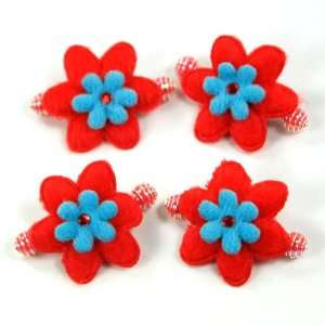 Red and Blue / Baby / Toddler/ Girls Flower Shaped Spring