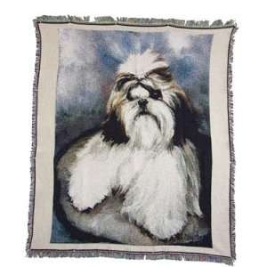 Shih Tzu Dog Puppies Throw Blanket Rug Afghan