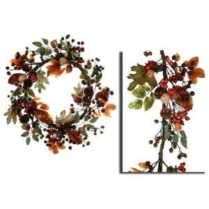 , Pine Cone & Berry Artificial Christmas Wreaths 24