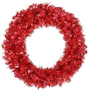 Artificial Christmas Wreath   Red Lights by Gordon