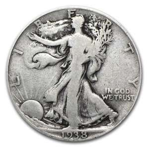 1938 D Walking Liberty Half Dollar (Fine) Toys & Games