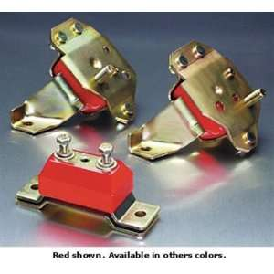 Transmission Mount   Steel   Polyurethane   Zinc   Red   Ford