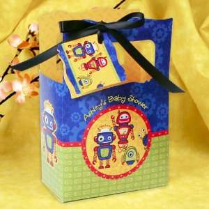 Robots   Classic Personalized Baby Shower Favor Boxes Toys & Games