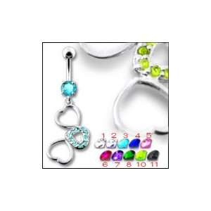 Fancy Jeweled Dangling Belly Ring Body Jewelry Jewelry